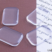20x30mm Clear Rectangle Glass Tile Cabochons - Lilly Ds DIY Craft Supplies
