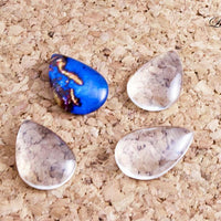 20x30mm Tear Drop Glass Tile Cabochon