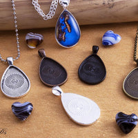 20x30mm Tear Drop Photo Pendant Tray Kit