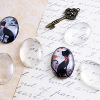 22x30mm Oval Photo Jewelry Pendant Tray Kit