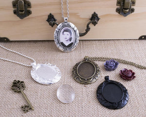 22x30mm Oval Vintage Cameo Kit