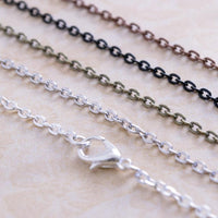 "30"" Petite Oval Cable Chain Necklaces - Lilly Ds DIY Craft Supplies"