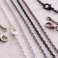 24 inch Petite Oval Cable Chain Necklaces - lilly-ds-diy-craft-supplies