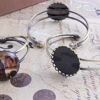 "25mm (1"") Round Laced Edge DIY Cuff Bracelet Kits"