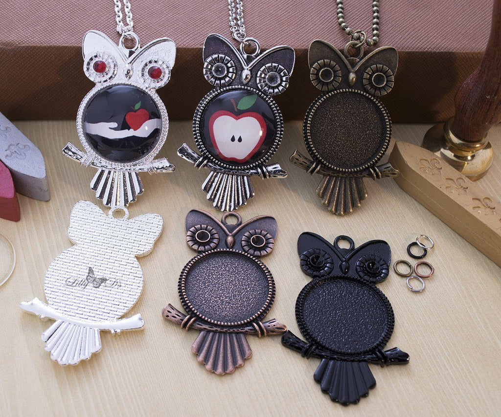 "25mm (1"") Round Owl Complete DIY Craft Kit"