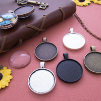 1 inch Round Pendant Tray Kit