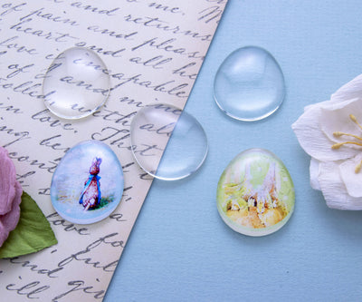 25x30mm  Glass Cabochon