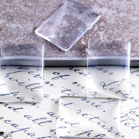 25x35mm Clear Rectangle Glass Tile Cabochons - Lilly Ds DIY Craft Supplies
