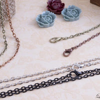 "30"" inch Oval Link DIY Vintage Cable Chains w/ Lobster Clasps"