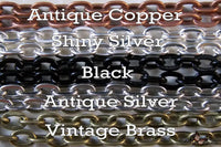 "30"" inch Oval Link DIY Vintage Cable Chains w/ Lobster Clasps - Lilly Ds DIY Craft Supplies"