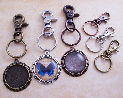 30mm Round Photo Jewelry Key Chain Kit - lilly-ds-diy-craft-supplies