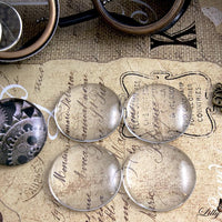 "38mm (1.5"") Large Round Clear Glass Cabochons"