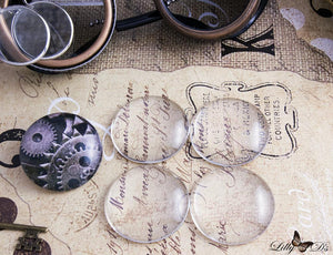 "38mm (1.5"") Large Round Clear Glass Cabochons - lilly-ds-diy-craft-supplies"