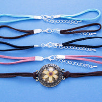 "6"" Faux Suede Bracelet with 2"" Extender - Lilly Ds DIY Craft Supplies"