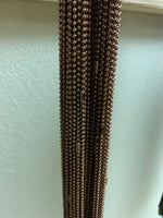 "50- 30"" Copper Ball Chain Necklaces fully assembled. CLEARANCE - Lilly Ds DIY Craft Supplies"