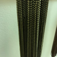 "50- 30"" Brass Ball Chain Necklaces fully assembled. CLEARANCE - Lilly Ds DIY Craft Supplies"