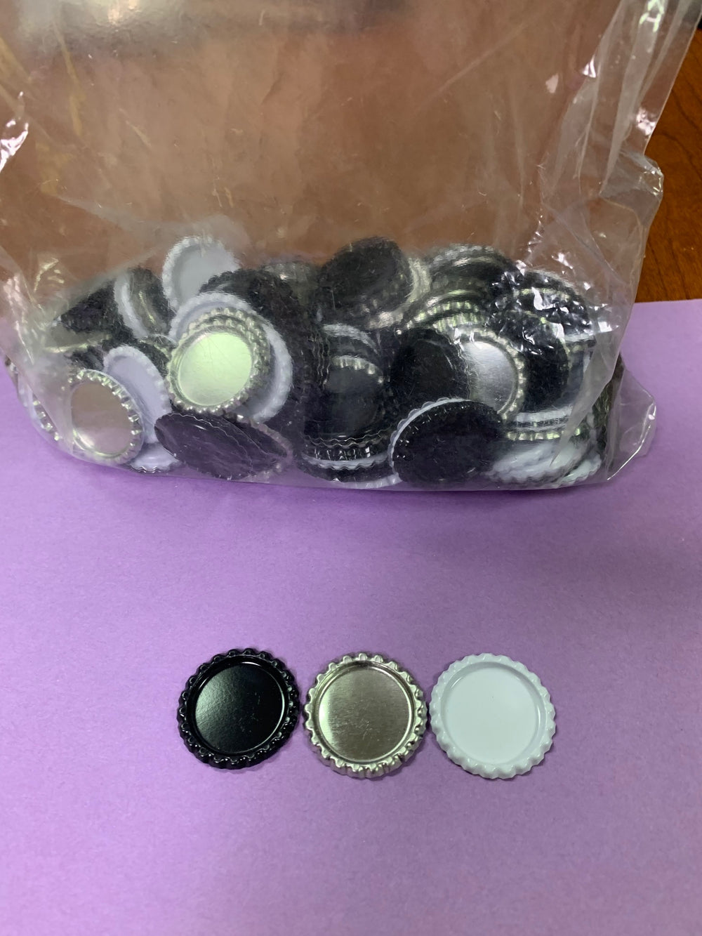 Whole bag approx 240 25mm Round Bottle Cap settings - Lilly Ds DIY Craft Supplies