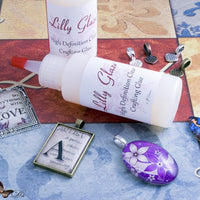 Lilly Glaze Glass Cabochon Glue 4 ounces - lilly-ds-diy-craft-supplies
