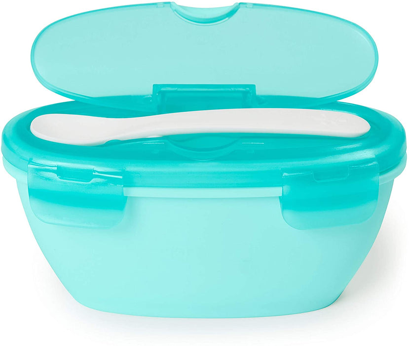 Skip Hop Easy Serve Travel Bowl and Spoon Coral