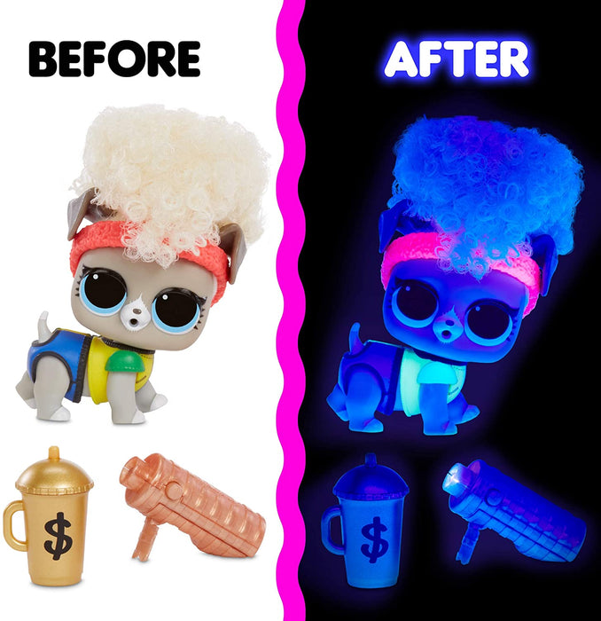 L.O.L Pets with Real Hair & 9 Including Black Light Surprises, Multi