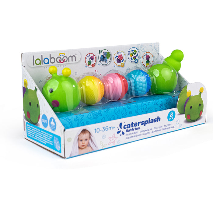 Lalaboom Bath Toy Caterpillar And Beads 8Pk
