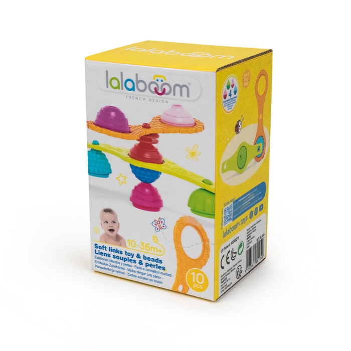 Lalaboom Teething Straps & Beads 10Pk