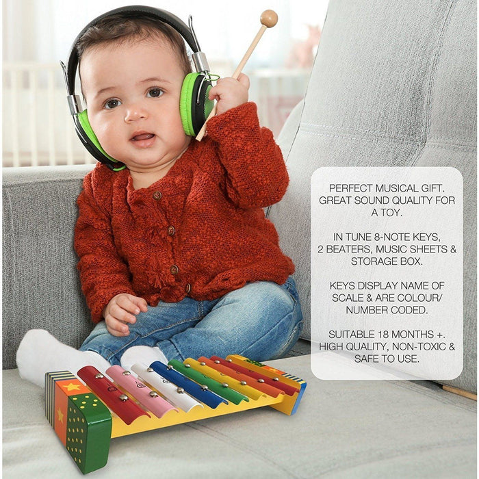 Bee Smart - Musical Xylophone with Music Sheet and 2 Beaters (de madeira) Anne Claire Baby Store