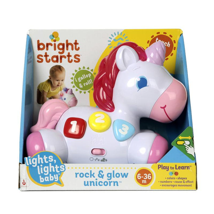 Bright Starts - Unicórnio Rock and Glow Anne Claire Baby Store