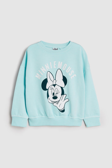 Ditsy Floral - Blusa Moletom Azul Minnie Anne Claire Baby Store