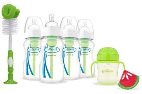 Dr Brown's Options Kit Presente com 7 itens Anne Claire Baby Store Verde