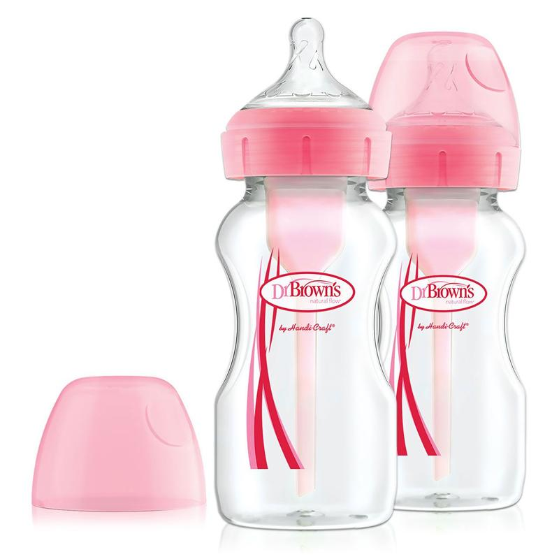 Dr Brown's Options+ Mamadeira 270ml - Kit com 2 Anne Claire Baby Store Rosa