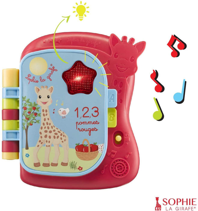 Girafa Sophie - Musical Light Up Livro Mordedor Natural Anne Claire Baby Store