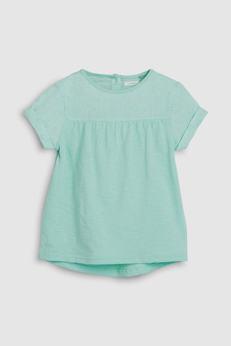 Holiday Shop - T-Shirt Bordada Menta Anne Claire Baby Store