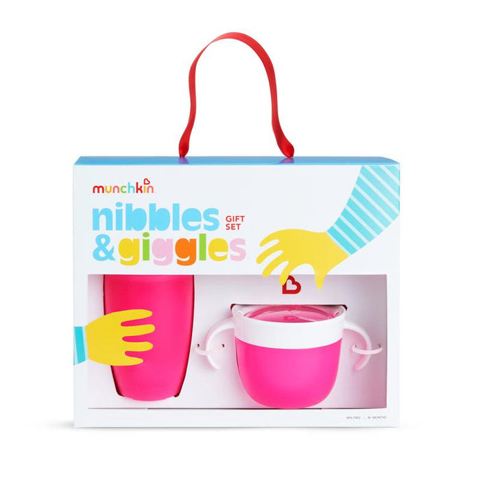 Munchkin - Nibbles & Giggles Gift Set Anne Claire Baby Store Rosa