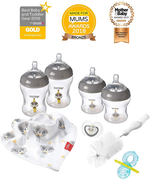 Nuby Natural Touch Mamadeiras Recém Nascido - Kit com 8 itens Bestseller Anne Claire Baby Store