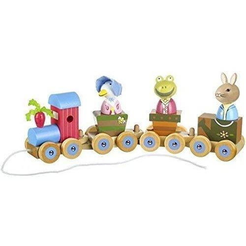 Orange Tree Toys Peter Rabbit Wooden Puzzle Train (de madeira) Anne Claire Baby Store