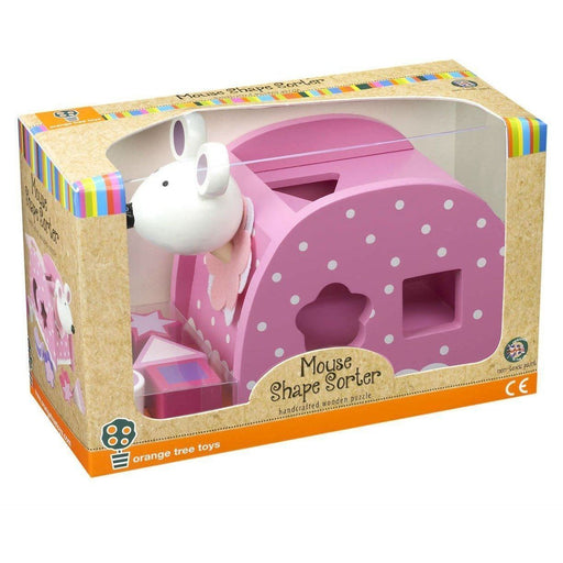 Orange Tree Toys Shape Sorter Pink Mouse (de madeira) Anne Claire Baby Store
