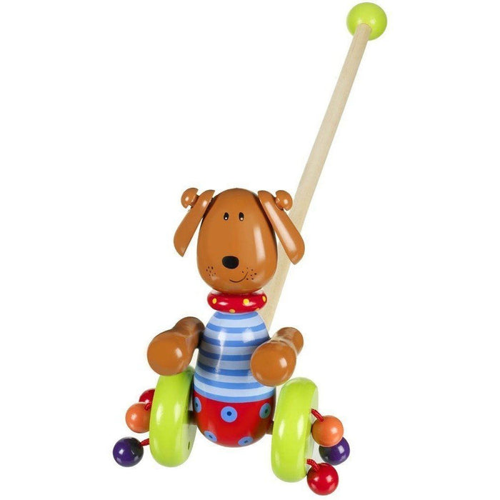 Orange Tree Toys- Wooden Push Along (de madeira) Anne Claire Baby Store cachorro