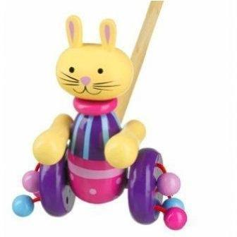 Orange Tree Toys- Wooden Push Along (de madeira) Anne Claire Baby Store coelho