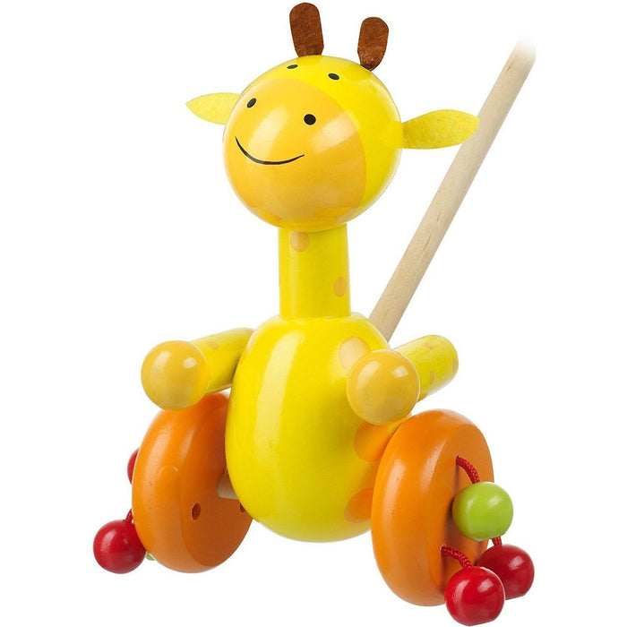 Orange Tree Toys- Wooden Push Along (de madeira) Anne Claire Baby Store girafa