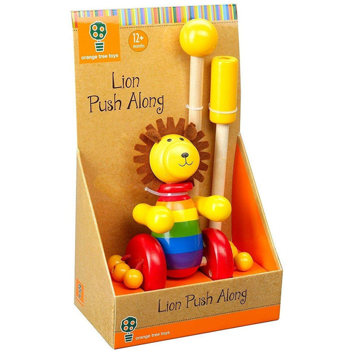 Orange Tree Toys- Wooden Push Along (de madeira) Anne Claire Baby Store leão