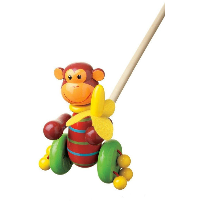Orange Tree Toys- Wooden Push Along (de madeira) Anne Claire Baby Store macaco