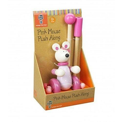 Orange Tree Toys- Wooden Push Along (de madeira) Anne Claire Baby Store ratinho