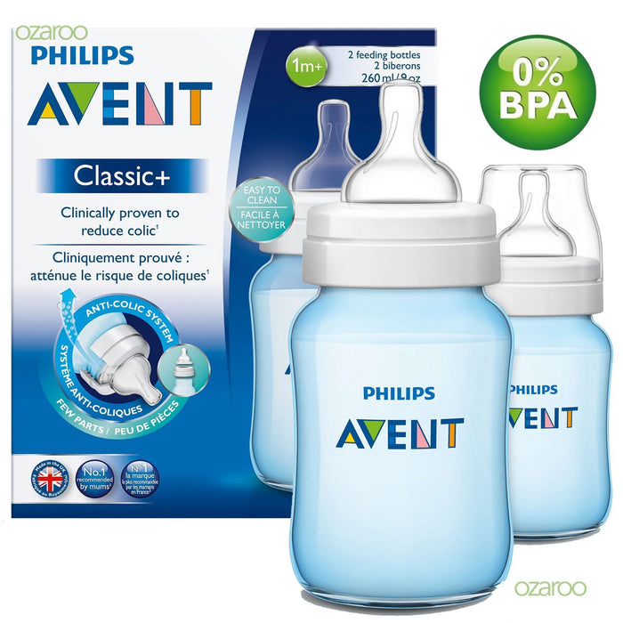 Philips Avent Classic Plus Mamadeira 260ml - Kit com 2 Anne Claire Baby Store Ltd.