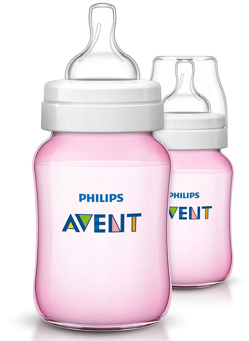 Philips Avent Classic Plus Mamadeira 260ml - Kit com 2 Anne Claire Baby Store Ltd. rosa