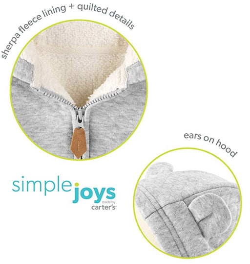 Simple Joys by Carter's BabyBoy Sweater Cinza Flanelado com Capuz ROUPA Carters