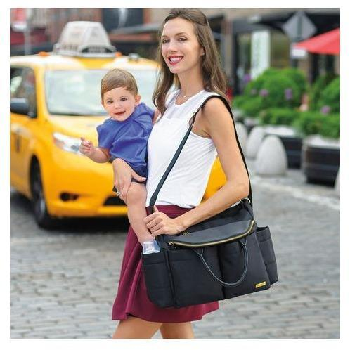 Skip Hop Chelsea Downtown Chic Diaper Satchel Anne Claire Baby Store