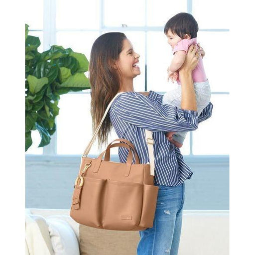 Skip Hop Greenwich Simply Chic Tote Anne Claire Baby Store Caramel