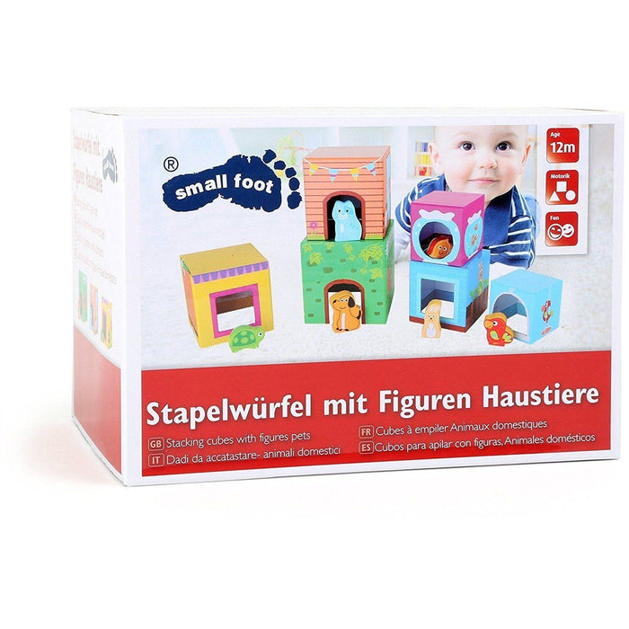 Small Foot Building Blocks with Animal Figures (de madeira) Anne Claire Baby Store