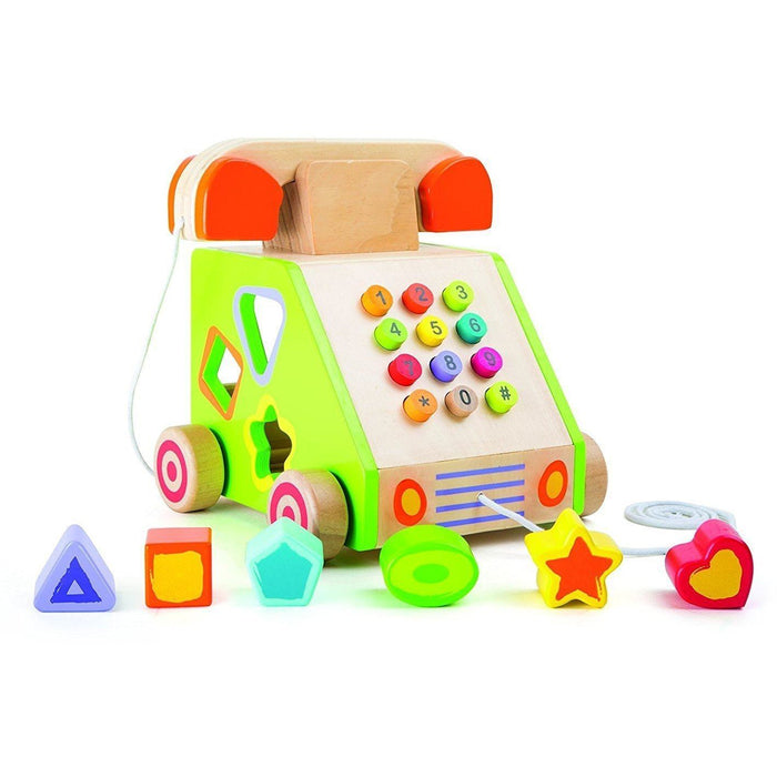 Small Foot Telephone Pull-Along and Motor Skills Trainer (de madeira) Anne Claire Baby Store